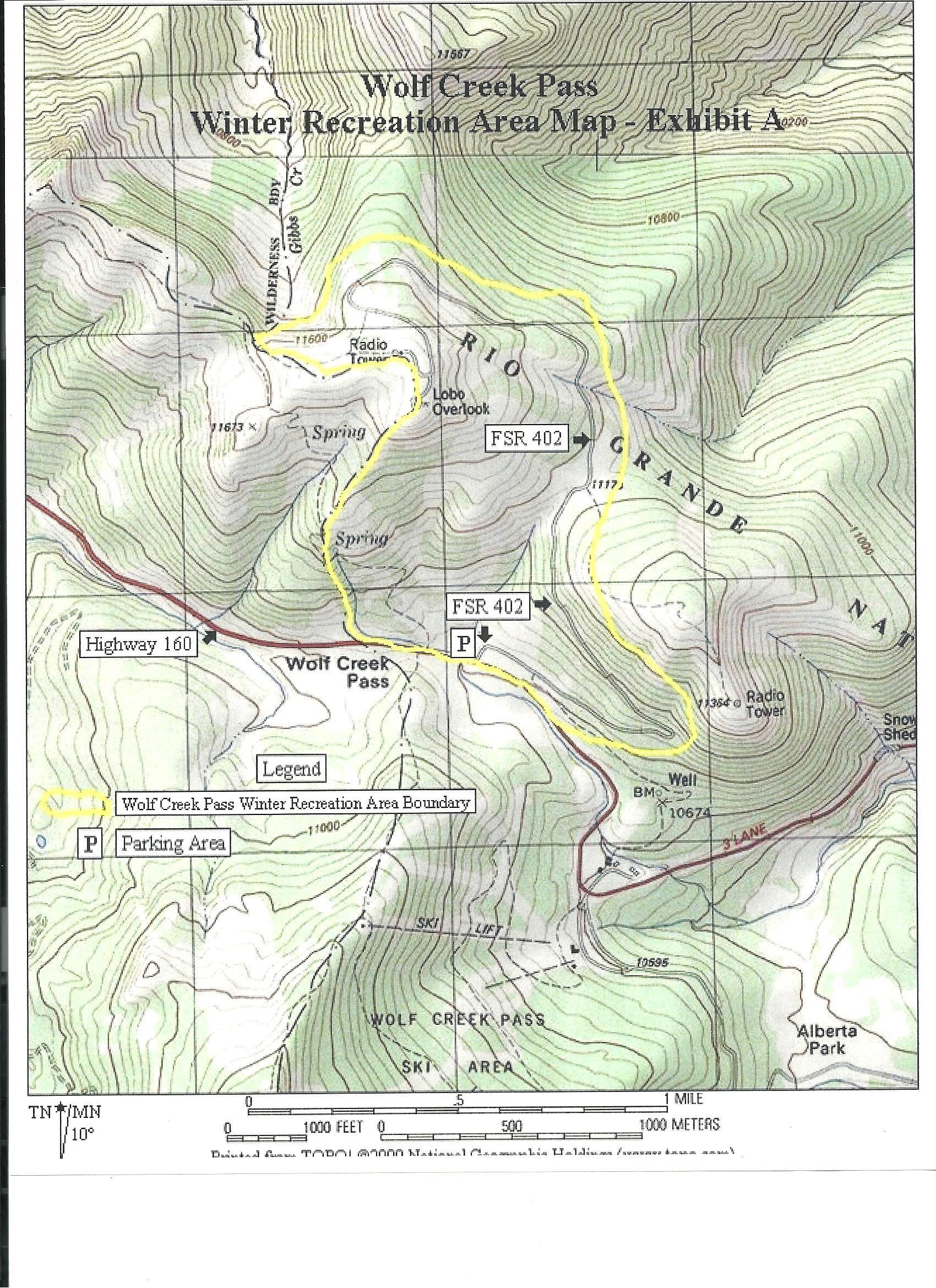 Us forest service maps colorado