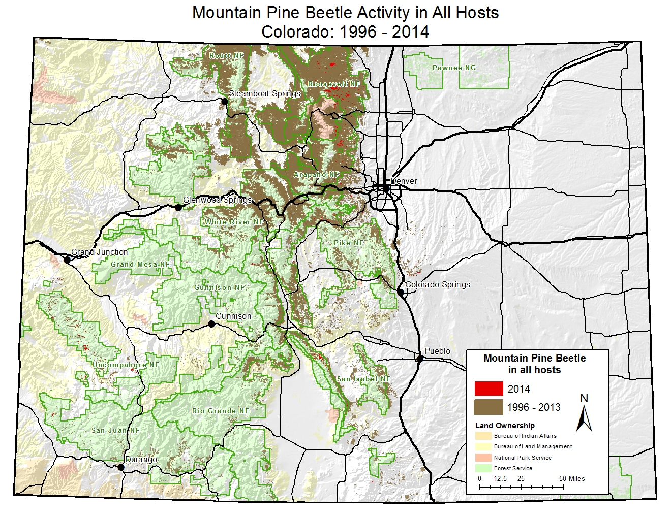 Forest Health: Mountain Pine Beetle - Rocky Mountain National Park on taiga ecosystem, sierra nevada ecosystem, grand canyon ecosystem,