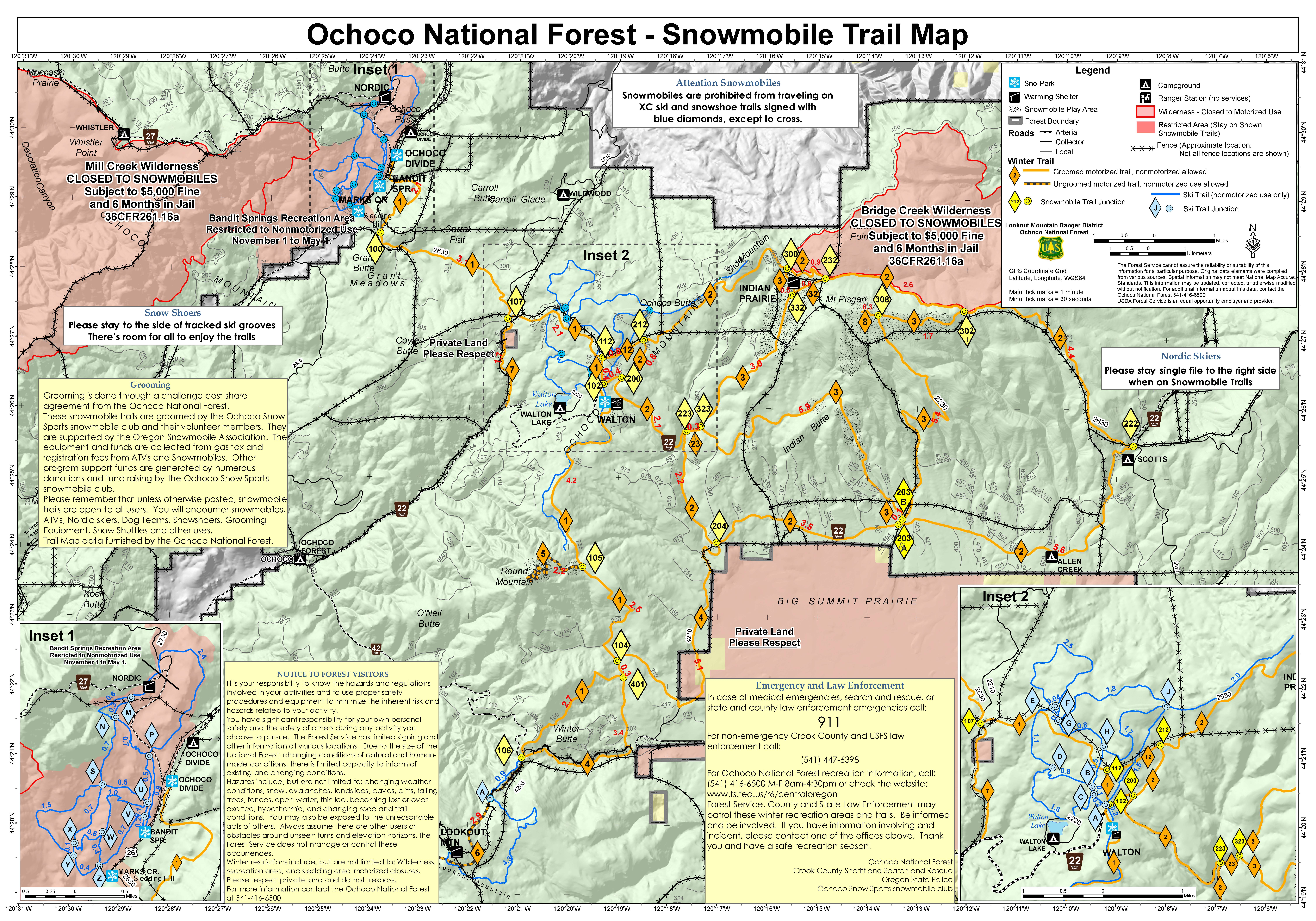 Ochoco National Forest Crooked River National Grassland Ochoco