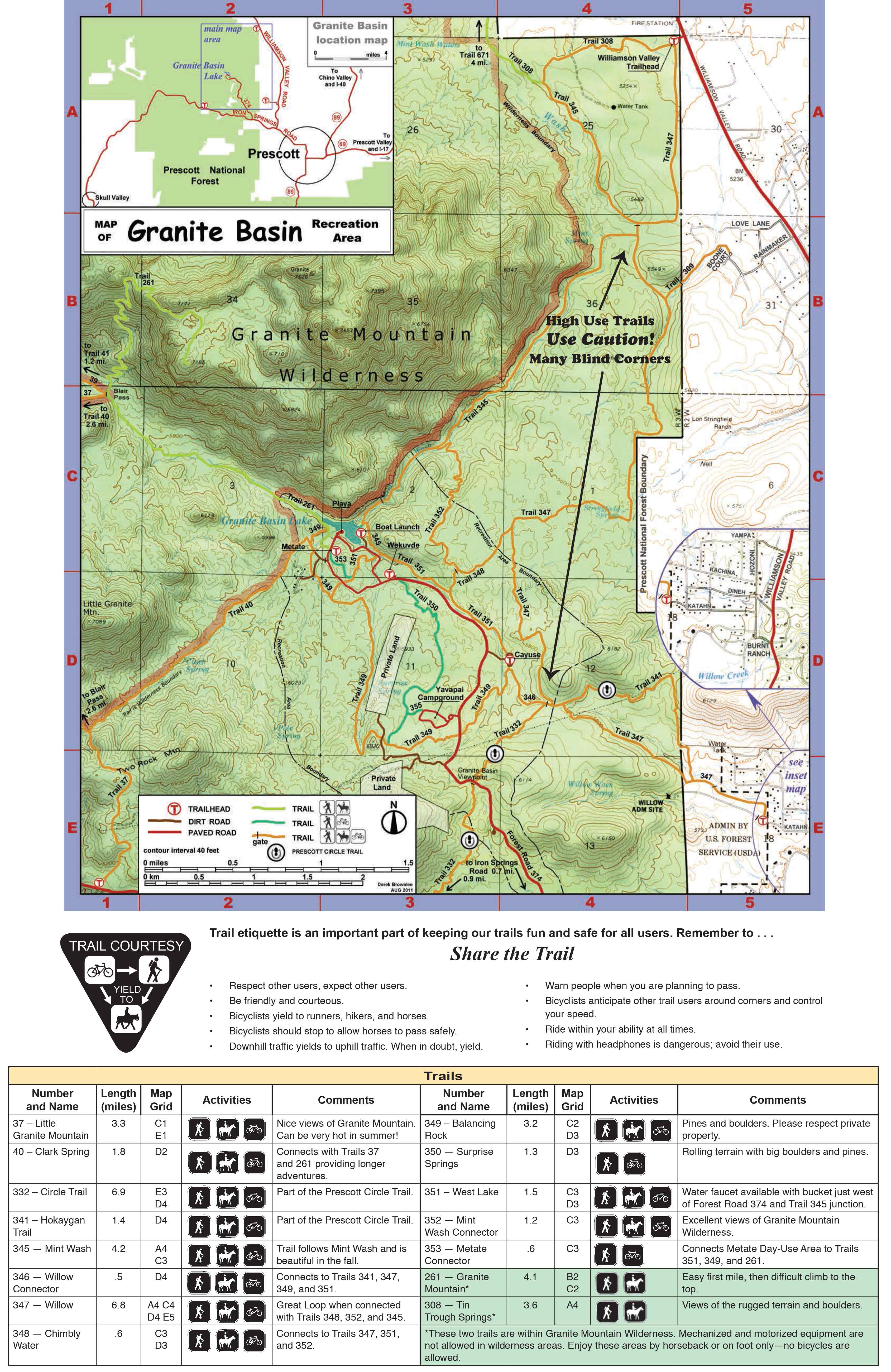 Prescott National Forest Maps Publications - Us highway map pdf