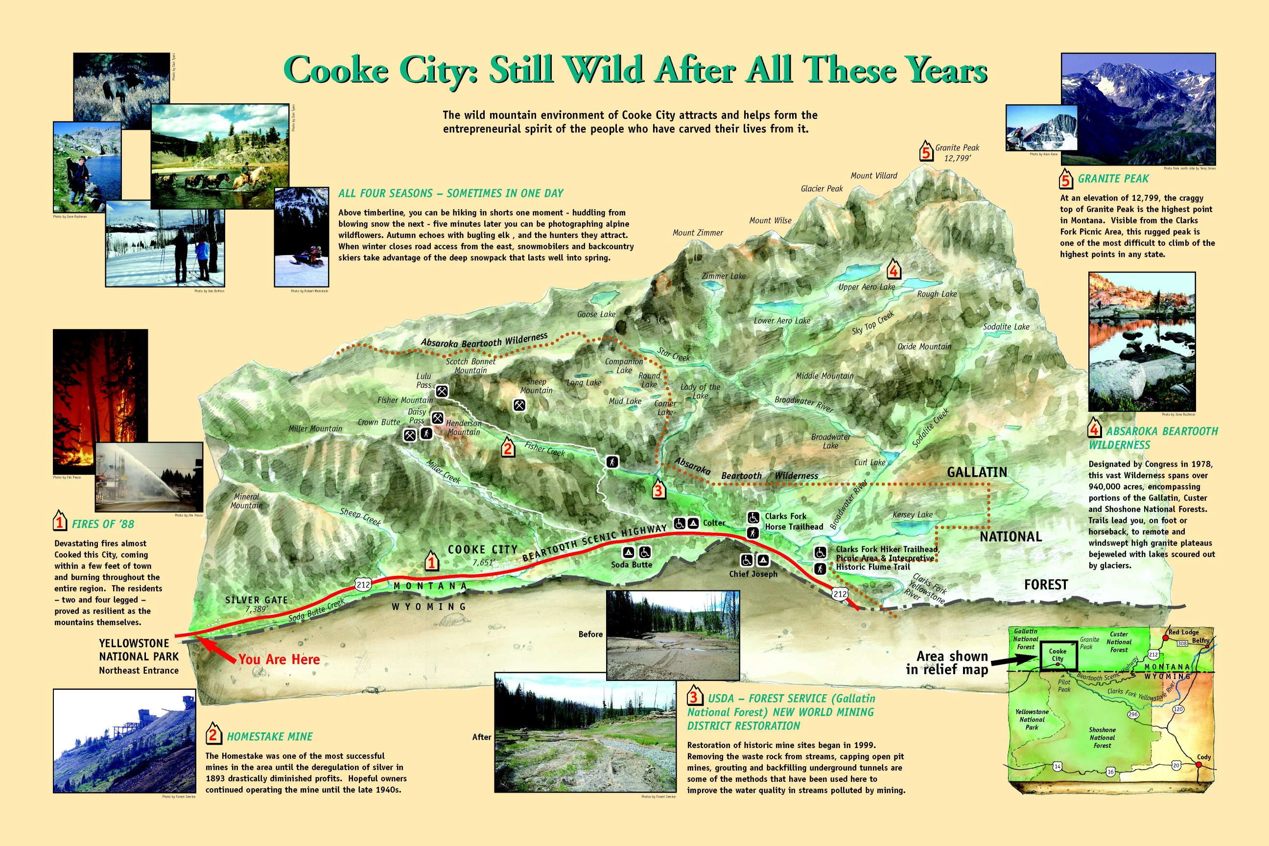 Custer Gallatin National Forest Special Places - Us forest service maps montana