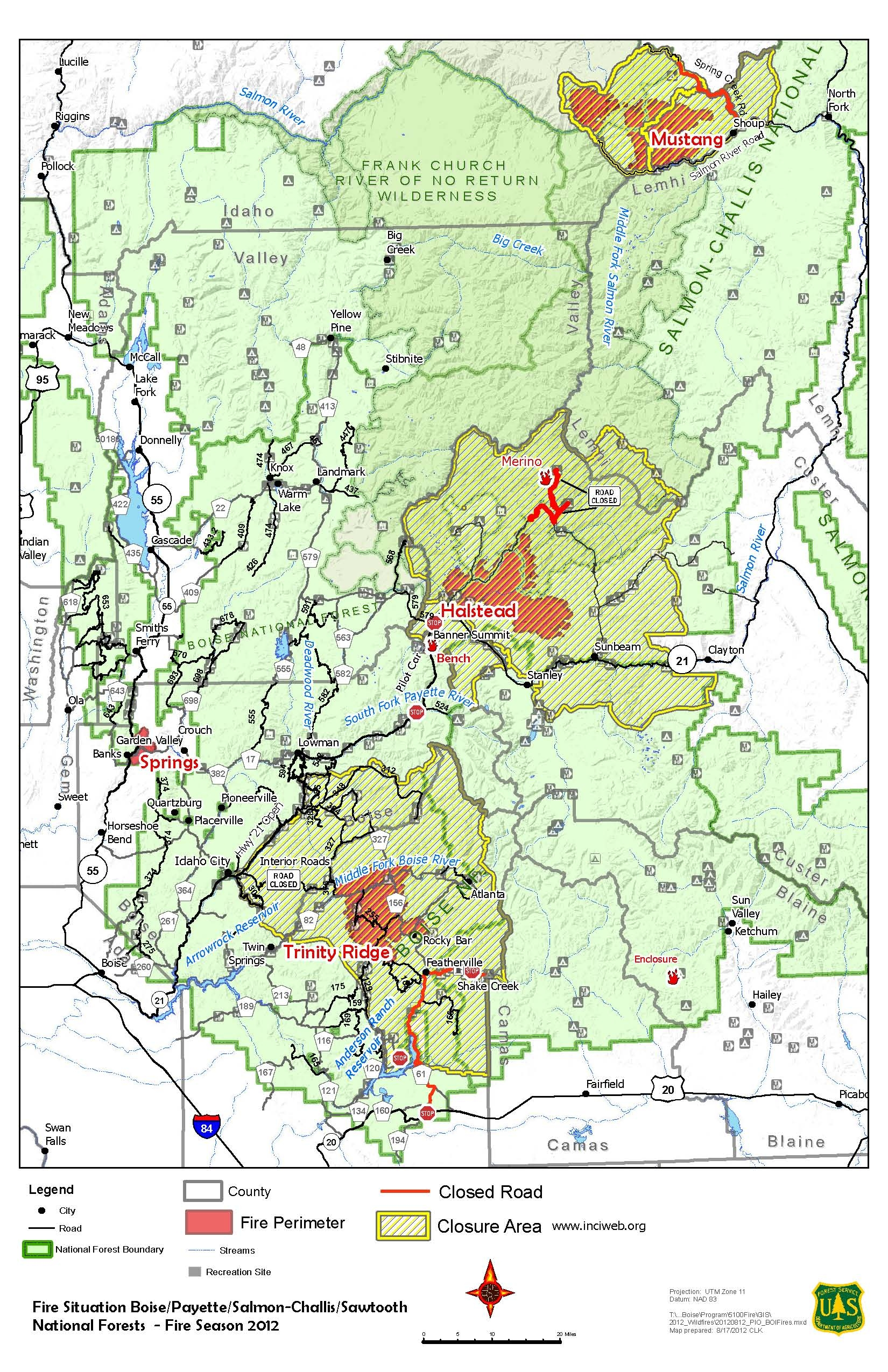 Salmon Challis National Forest Fire Management