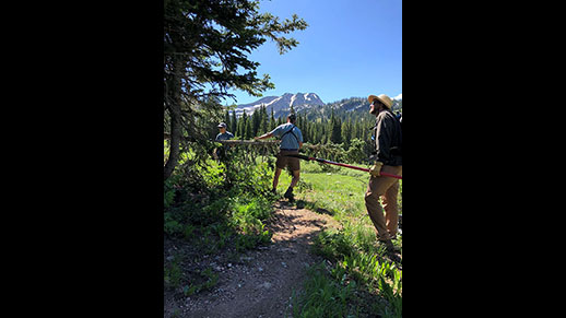 Trail Crew on the Caribou-Targhee National Forest