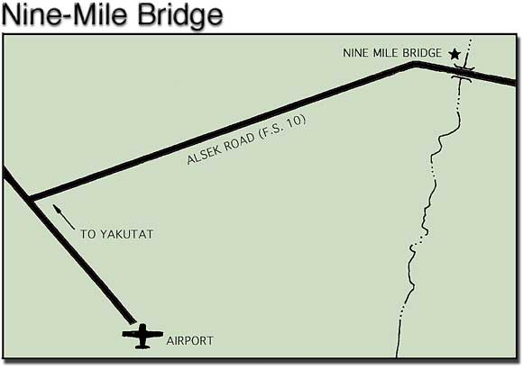 small map to Nine Mile Bridge