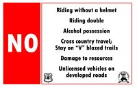 Please abide by Virgina's OHV regulations!
