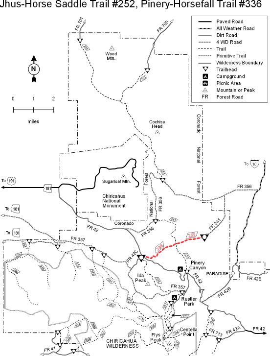Coronado National Forest Jhus Horse Saddle Trail 252