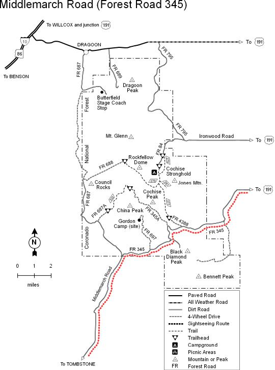 Coronado National Forest - Middlemarch Road #345 Scenic Drive on