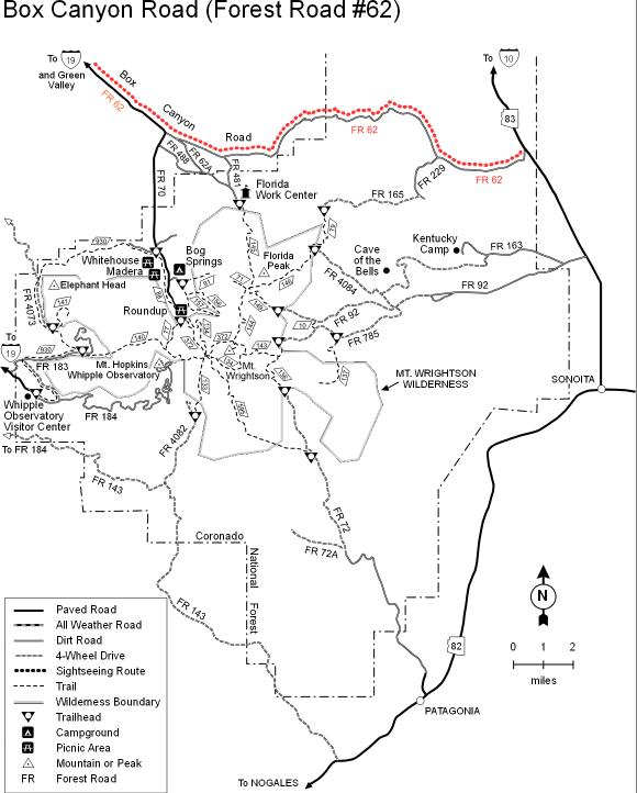 Ruby Arizona Map.Coronado National Forest Arivaca Lake