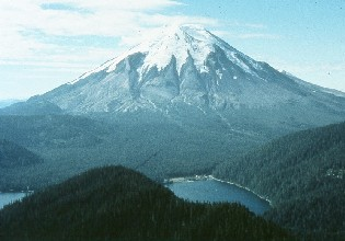 Photo of Mount St. Helens before the 1980 eruption.