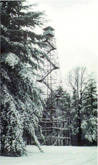 hickory ridge tower in winter
