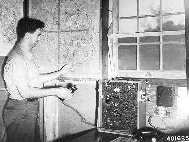 photo of fire dispatcher at work in 1940
