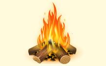 Stylized Image Of A Campfire