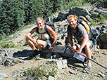 Photo of hikers on the Pacific Crest Trail.