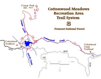 Graphic: Cottonwood trails & trailhead general location.