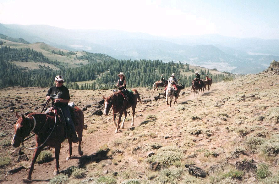 Horse riding on the National Recreation Trail