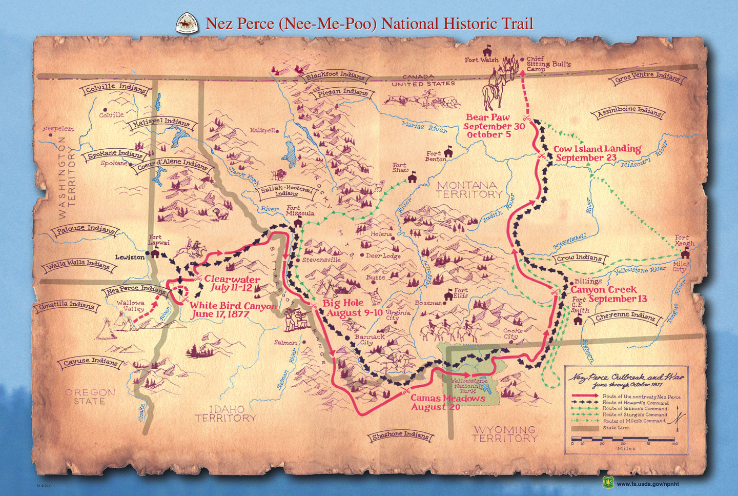 nez perce nee me poo national historic trail us forest service north carolina historical topographic maps jpeg