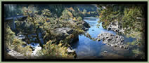 [PHOTO: Colliding Rivers near Glide, Oregon - Click for larger 12,687 KB JPG - Photo by Greg Morgan]
