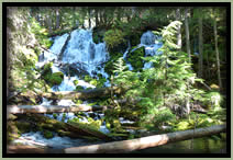 [PHOTO: Clearwater Falls - Click for larger 3,194 KB JPG - Photo by John Sloan]