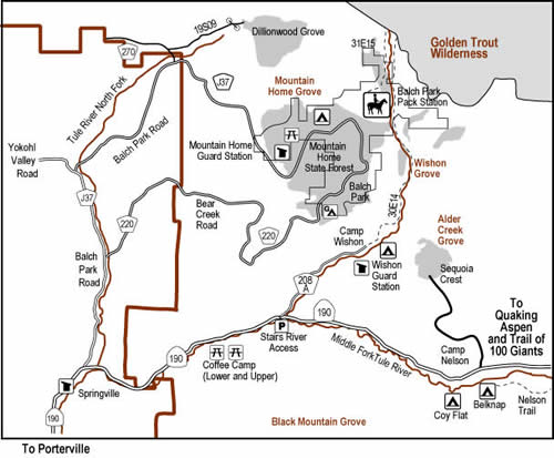 Wishon Canyon map