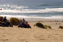 photo of quads riding in foredunes at Sand Lake