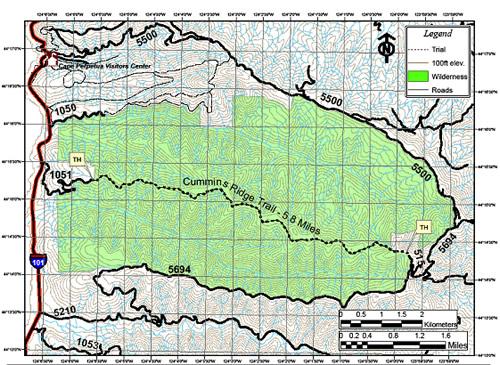 Siuslaw National Forest Cummins Creek Wilderness