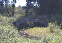 photo of Rowdy Creek with new culvert for fish passage