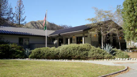Photo: Front Entrance and walkway to Lytle Creek Ranger Station