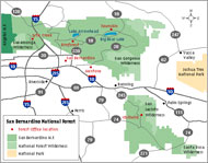 San Bernardino National Forest Locator Map