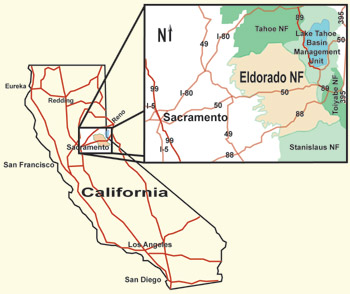 National Forests In California Map.Eldorado About The Forest