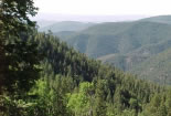 Scenic view into the Gila Wilderness