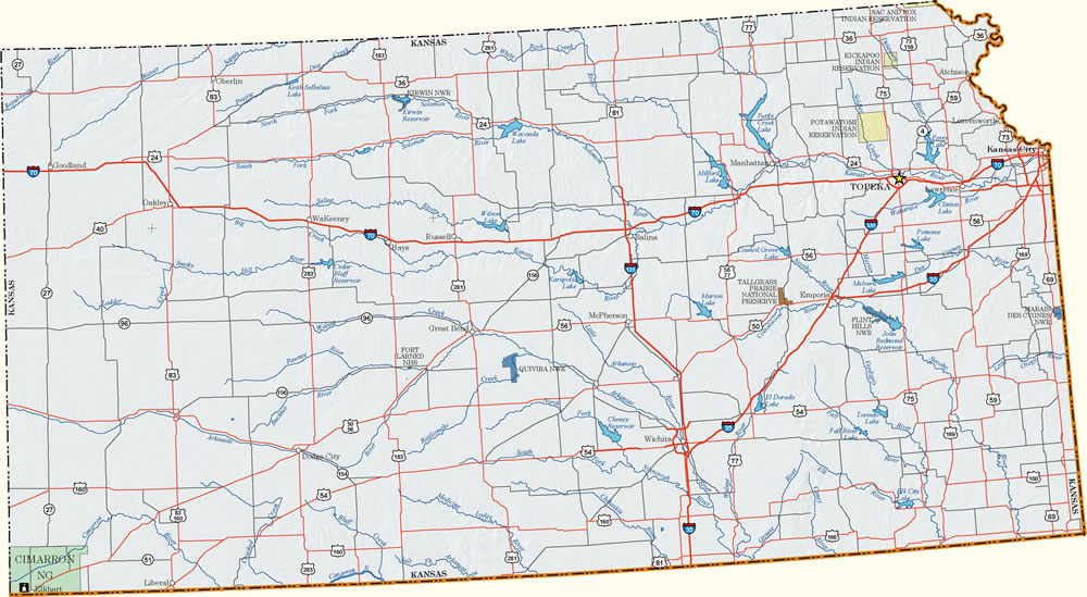 Kansas Recreation Information Map