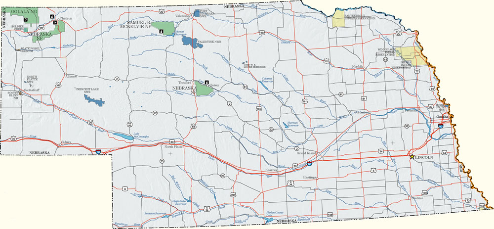 Nebraska Dispersed Camping Information Map