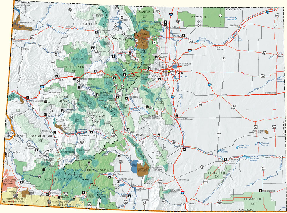 Map Of Colorado Mountains Colorado Dispersed Camping Information Map