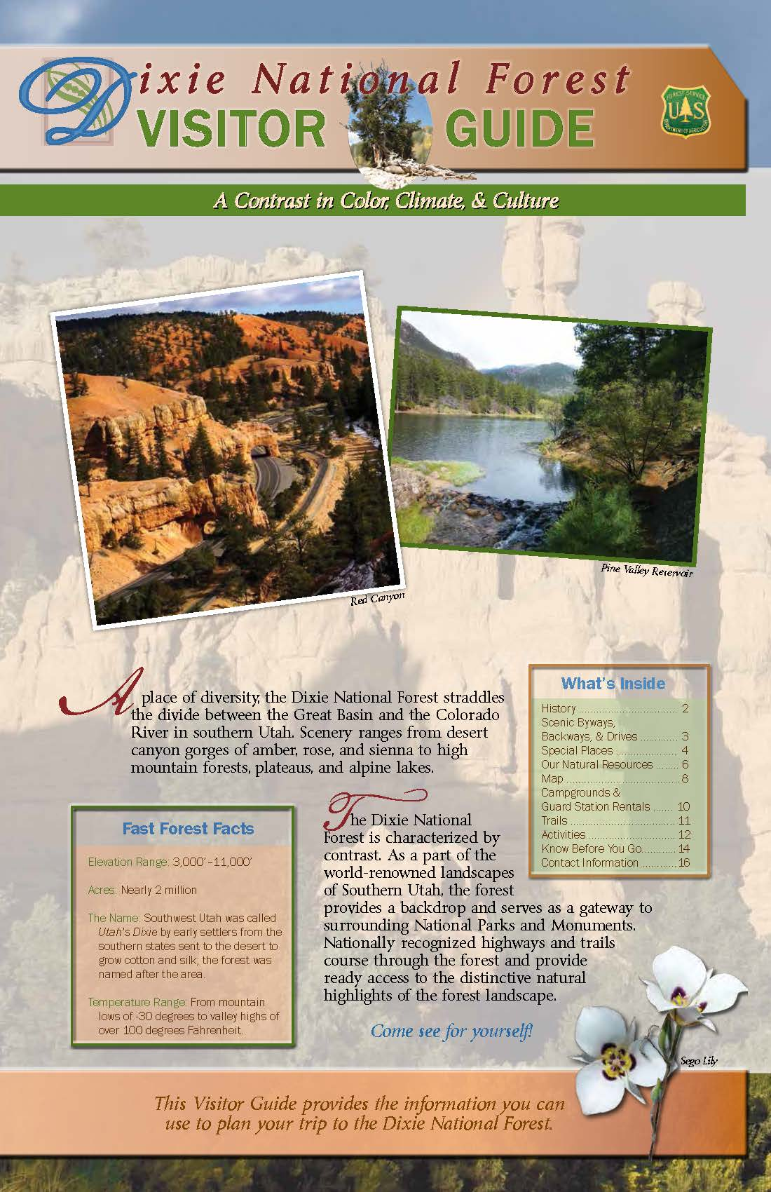 Dixie National Forest Visitor Guide 2015