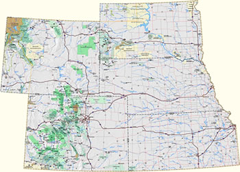 Rocky Mountain Region Recreation Information Map