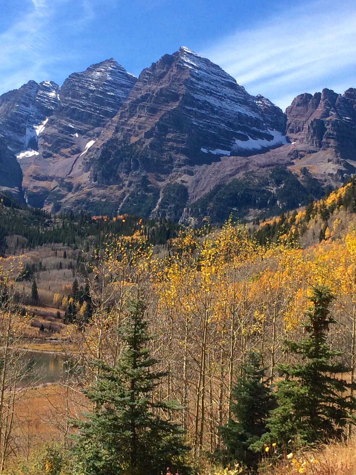 Fall colors is past peak at the Maroon Bells