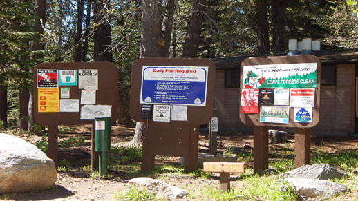 Big Meadow Campground Information Board