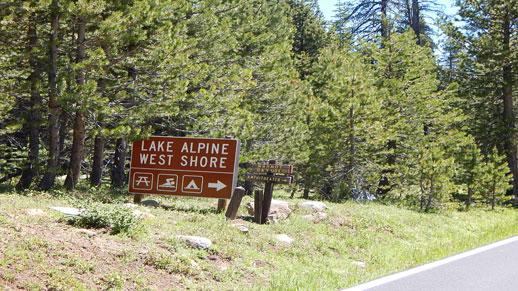 Lake Alpine Entrance