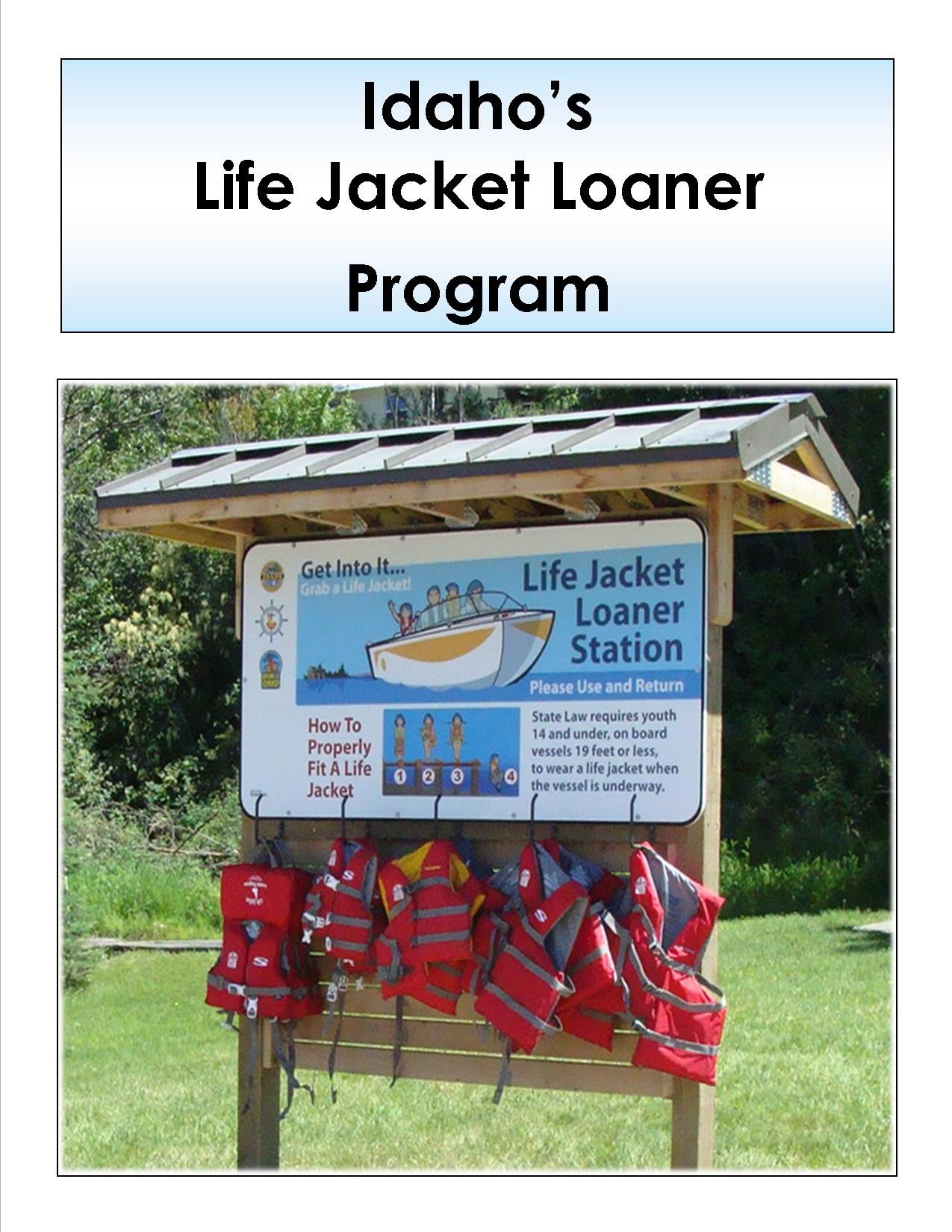 Image and sign of a Life Jacket station