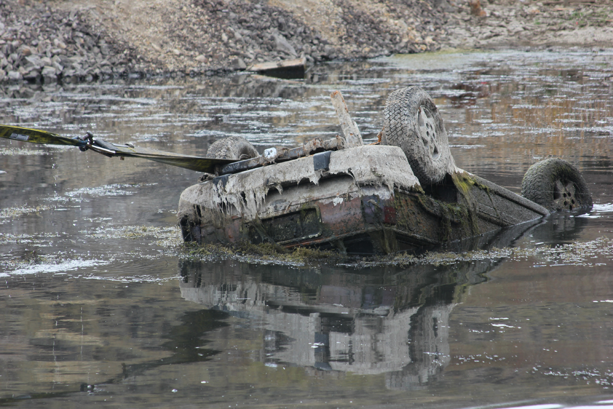 Car Dumped in Kiowa Pond