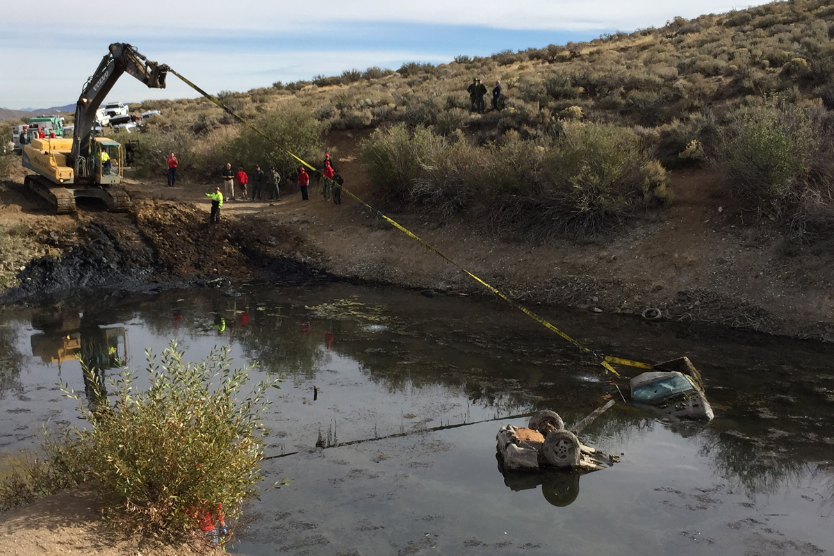 Removing Car from Kiowa Pond