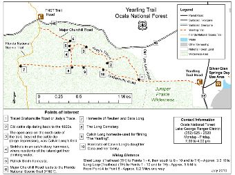 Ocala National Forest - Yearling Trail on disney world map pdf, c&o canal map pdf, florida fishing pdf, united states map pdf, florida highway map pdf, south florida map pdf,