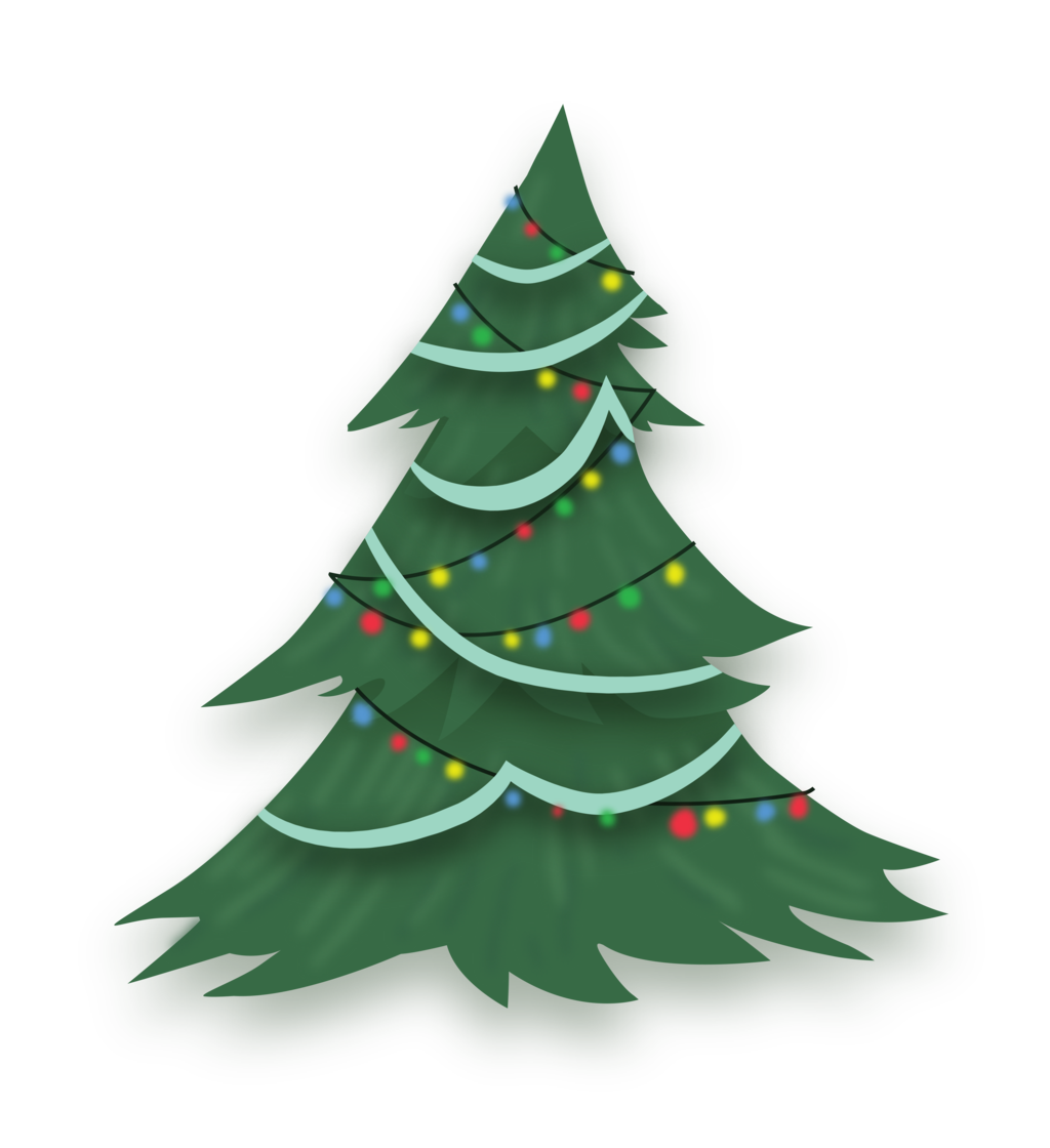 Stylized animated Christmas Tree