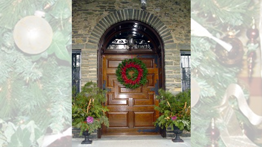 Front Door festively decorated