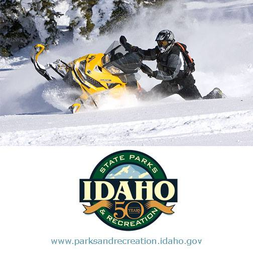 Snowmobiling - Parks and Recreation Logo and photo