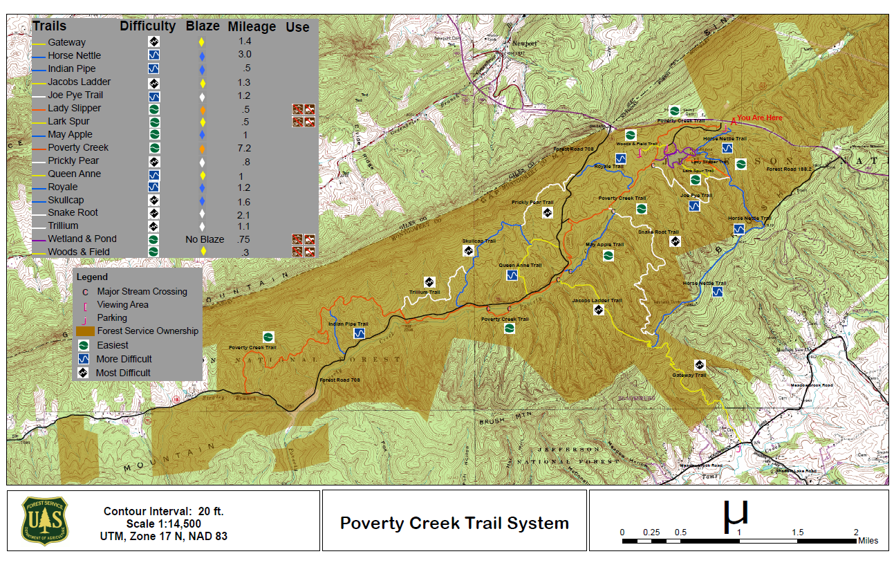 Thumbnail of Poverty Creek Trail System Map