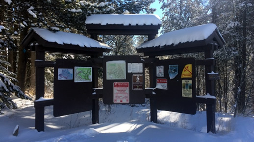 Kiosk in winter scene