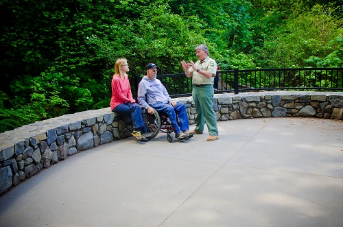 Wahkeena Falls viewing plaza is universally accessible.