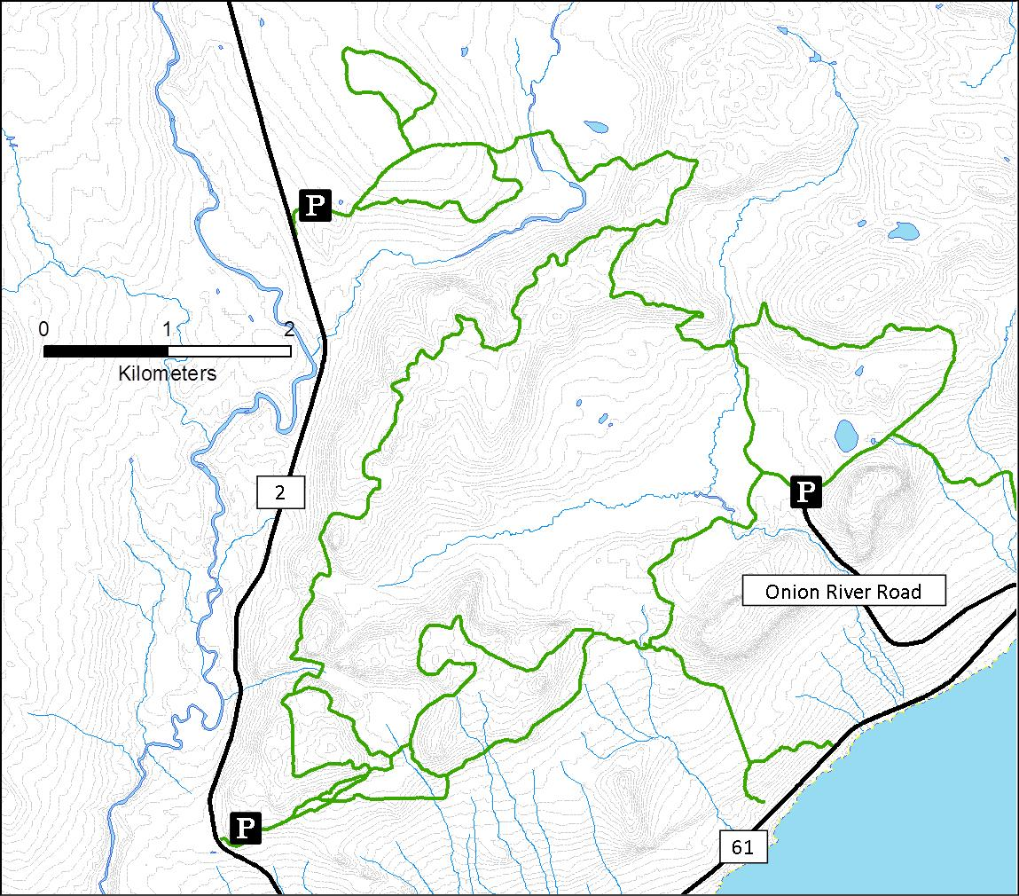 A map of the Sugarbush ski trails.