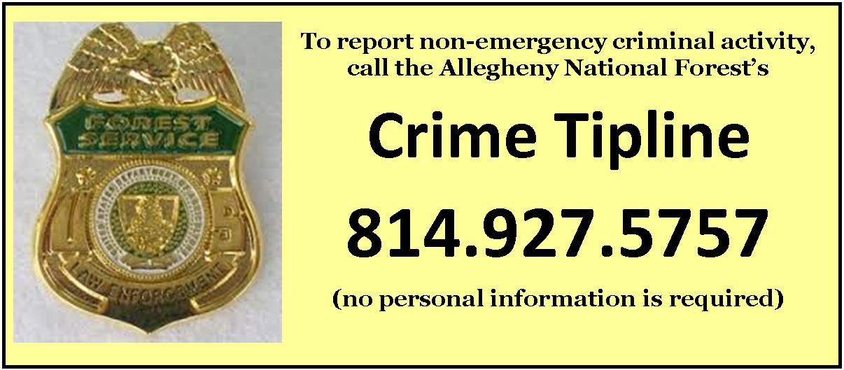 call 814 927 5757 to report criminal activity